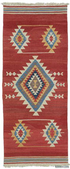 K0004367 New Turkish Kilim Runner | Kilim Rugs, Overdyed Vintage Rugs, Hand-made Turkish Rugs, Patchwork Carpets by Kilim.com