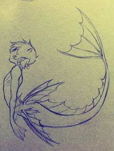 Pencil Drawing - Other Pencil Drawing Fixing Leading .- Bleistiftzeichnung – Andere Pencil drawing – Other Pencil Art Drawings, Cool Art Drawings, Art Drawings Sketches, Fantasy Drawings, Drawings Of Fish, Fantasy Art, People Drawings, Dark Fantasy, Mermaid Drawings