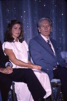 Priscilla and Vernon Presley at the unveiling of Elvis' Bronze Statue - Las Vegas Hilton, September, 1978.