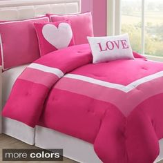 VCNY Chelsea 5-piece Reversible Comforter Set   Overstock.com Shopping - The Best Deals on Kids' Comforter Sets
