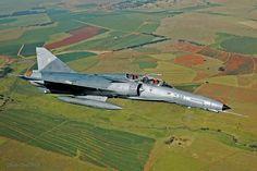 Atlas Cheetah D Fighter✈South African Air Force Airplane Fighter, Fighter Aircraft, Fighter Jets, Military Jets, Military Aircraft, Mirage F1, Cheetah Wallpaper, Iai Kfir, Air Force Day