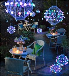Color-Changing Solar Flower Lanterns make any gathering special and memorable. Solar-powered for decorating ease - wonderful for weddings, garden parties or everyday lighting.