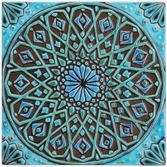 Moroccan wall hanging made from ceramic - exterior wall art - moroccan art - moroccan wall hanging - ceramic tile - - turquoise Moroccan Wall Art, Moroccan Design, Moroccan Tiles, Moroccan Decor, Moroccan Garden, Moroccan Interiors, Ceramic Tile Art, Clay Tiles, Ceramic Decor