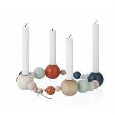 Ferm Living Candle Holder String, love this for Christmas table. Design Shop, Deco Design, Chandeliers, Christmas Time, Xmas, Christmas Place, Modern Christmas, Scandinavian Christmas, Porta Velas