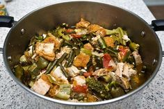 PINAKBET (FILIPINO VEGETABLE STEW) - While this dish is a staple dish in Filipino homes, I think every household has their own version of this Pinakbet popular dish seasoned to their tastes. Filled with wonderful vegetables it is traditionally seasoned with a fermented fish paste or shrimp paste. Often made with pork, feel free to add it if you like.   Get this recipe by clicking on the link below: http://ow.ly/6rEc301DKko