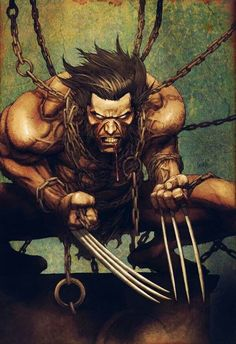 Wolverine. too cool not to repin, plus if the claws were claws and not spurs, it would be my feral template character