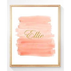 Coral and Gold Nursery, Coral Nursery Decor, Set of 3 8x10 Watercolor... ($45) ❤ liked on Polyvore featuring home, children's room and children's decor