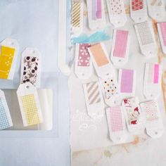 washi tape tags  http://wishywashi.com