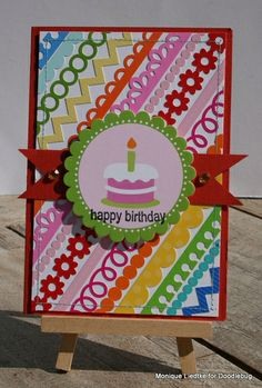 Birthday Card using edge punches and die cuts