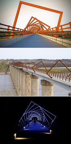 High Trestle Trail Bridge (Boone County, U.S.) designed by David B. Dahlquist, RDG Dahlquist Art Studio.