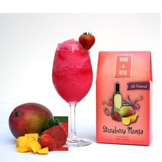 Strawberry Mango Frozen Wine Drink is a wine slush cocktail mix in a bag that turns white wine into a refreshing frosty drink. The Strawberry Mango all natural slushie mix provides a tropical blend of sweet strawberries and juicy mangos. The Wine-a-Rita Strawberry Mango can be blended with your favorite white white, rum or vodka. All you need is ice, wine and a blender.