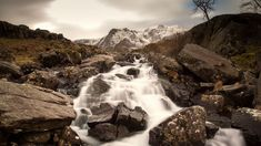 King Arthur's Wales Camelot Myth. Falls at Llyn Ogwen, Snowdonia. This has been proposed as the last resting place of Arthur's sword Excalibur.