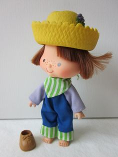 Vintage Strawberry Shortcake Doll  Huckleberry by NostalgiaMama, $12.00