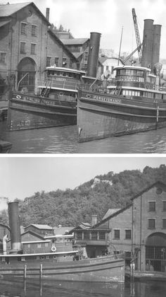 The History of the Rondout Towing Company, Tugboats, Steam Boats, Classic Wooden Boats, Wood Boats, Boiler, Kingston, Locomotive, Paddle
