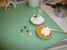 Lemon Pie en arcilla polimerica Tutoriales - puntosurminiaturass