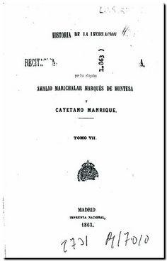 Historia de la legislación y recitaciones del derecho civil de España / Amalio Marichalar Marqués de Montesa y Cayetano Manrique. - Madrid : Imprenta Nacional, 1861-1872. - Tomo VII.
