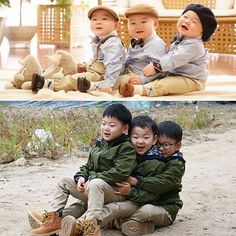 My babies 😍 Cute Kids, Cute Babies, Song Il Gook, Triplet Babies, I Miss You Guys, Man Se, Superman Baby, Song Daehan, Song Triplets