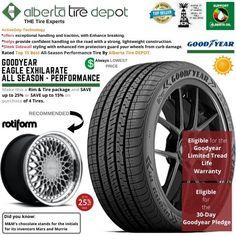 Goodyear EAGLE EXHILARATE All Season Performance Tire 285/35ZR19 SL 99Y Rotiform Wheels Goodyear Eagle, Service Map, Performance Tyres, Wheels, Seasons, Seasons Of The Year