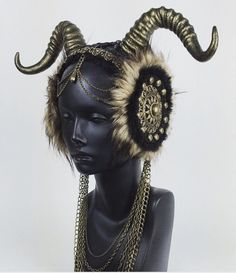 . This horned headpiece.  Get your burning man costumes ready!
