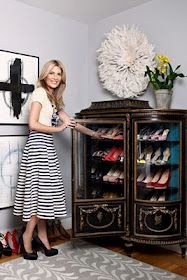 Um. She's got it going on. And while i like the shoe cabinet out of old china hutch, i feel a little overwhelmed by displaying shoesies.