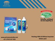#NasalInhaler provides instant relief for dry, inflamed nasal passages due to colds, allergies, hay fever, and other nasal irritations. #Healthcare  #Princecare www.princecareindia.com Allergies, Health Care, Herbs, Personal Care, Herb, Spice, Health