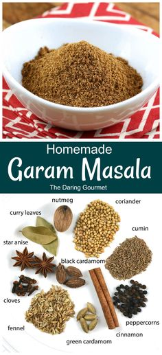 Garam Masala is a wonderfully versatile Indian seasoning blend that will bring an incredible depth of flavor to a large variety of dishes. The different spices play their own unique part in delivering a phenomenal symphony of flavors! Garam Masala Powder Recipe, Masala Recipe, Masala Spice, Spice Mixes, Spice Blends, Sauces, Spiced Coffee, Homemade Spices, Seasoning Mixes