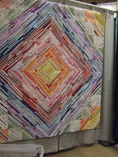 Wonderful quilt using selvages!