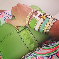 .@2011mela | Details#hermes#bracelats#valentino #bag#jilsander #loveit | Webstagram - the best Instagram viewer