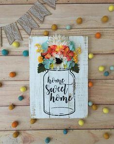 Mason Jar Image With Paper Flowers Cricut Projects Cricut Flower Shadow Box Crafts