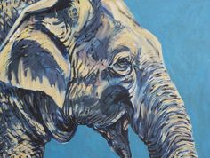Mike's Elephant Art Print by Laura Wolf