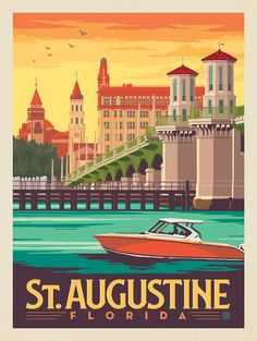Vintage Travel Posters, Retro Posters, Poster Vintage, Movie Posters, Florida Images, Travel Crafts, Vintage Florida, United States Travel, Paint By Number