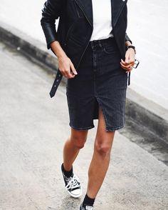 """Andy Csinger on Instagram: """"Dressing for rainy days ✔️ // @leejeansaustralia denim skirt """""""