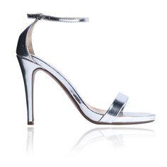 69,90EUR High heels Pumps Sandalen silber Leder wedding shoes Brautschuhe silber