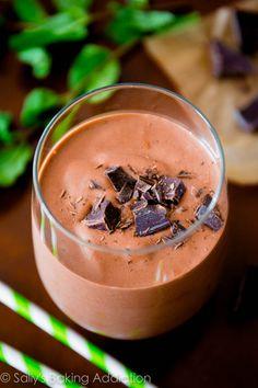 Mint Chocolate Milkshakes