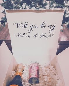 Bridesmaid Boxes ....✨🎀🥂💍👯♀️ #bride #bridesmaids #bridalparty #proposals #bridesmaidproposal #bridalpartygifts #bridesmaidproposalbox… Brides Maid Proposal, Bridesmaid Proposal Box, Bridesmaid Boxes, Bridesmaids, Proposals, You And I, Place Cards, Place Card Holders, Instagram