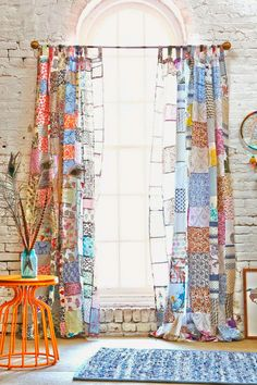 ✽ boho patchwork curtains - i bocconcini di beach eau Decor, Home Diy, Boho Decor, Curtains, Patchwork Curtains, Home Decor, Room Decor, Bohemian Decor, Home Deco