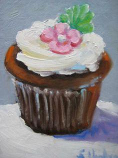 Cup Cake Painting, to teach Wayne Thiebaud acrylic lesson
