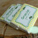 Chocolatinas personalizadas - Mesas dulces - fiestas personalizadas, sobres de arpillera