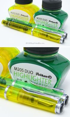 I am pretty glad I didn't know this what's a thing while I was in school. Pelikan M205 Duo Highlighter Fountain Pens