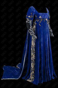 Lucrezia Borgia gown. LOVE this intense blue color!