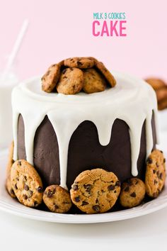 Milk and Cookies Cake Picture