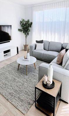 Living Room Decor Cozy, Home Decor Bedroom, Home Living Room, Cool Living Room Ideas, Decorating Small Living Room, Home Room Design, Living Room Designs, Small Apartment Living, Modern Small Living Room