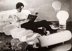 """Quasar Khanh  """"Apollo"""" chaise lounge  ÉditionQuasar  1968. Inflatable"""