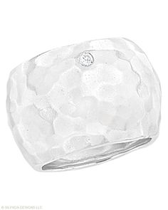 New catalog! This hammered band looks and feels so good! Cubic Zirconia, Sterling Silver. www.mysilpada.com/leah.keith