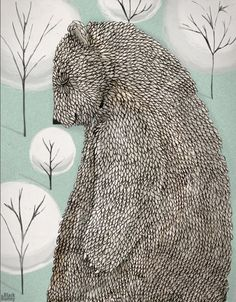 Bear keeper of the forest Black Bunny
