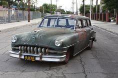 """Derelict"" Desoto Wagon, not a derelict...custom frame, suspension and engine...nice"