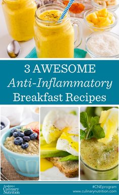 3 Delicious Anti-Inflammatory Breakfast recipes Source by soonfuller Anti Inflammatory Foods List, Anti Inflammatory Smoothie, Smoothies, Smoothie Recipes, Detox Breakfast, Breakfast Recipes, Breakfast Ideas, Alkaline Breakfast, Health Breakfast