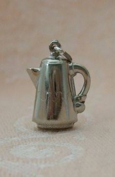 Vintage Puffy Coffee Pot Squiggle Design Sterling Silver 3D Charm | eBay  15