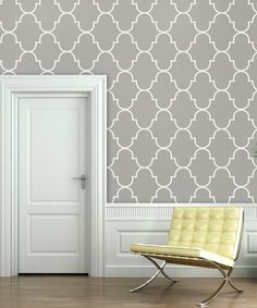 Take a look at this Silly Putty Classic Trellis Wallpaper Decal by Swag Paper on. - - Take a look at this Silly Putty Classic Trellis Wallpaper Decal by Swag Paper on today! Trellis Wallpaper, Accent Walls In Living Room, Silly Putty, Bedroom Color Schemes, Adhesive Wallpaper, Traditional Wallpaper, Reno, Bedroom Sets, Girls Bedroom