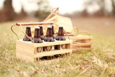 Handcrafted wood beer carrier—designed for the true beer connoisseur. Slot your favorite craft beers and be on the go! Craft beer is best enjoyed in a Crafted Crate.
